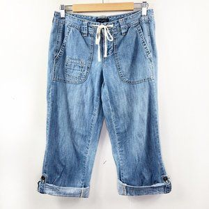 Tommy Hilfiger Cropped Button Tab Summer Jeans 4